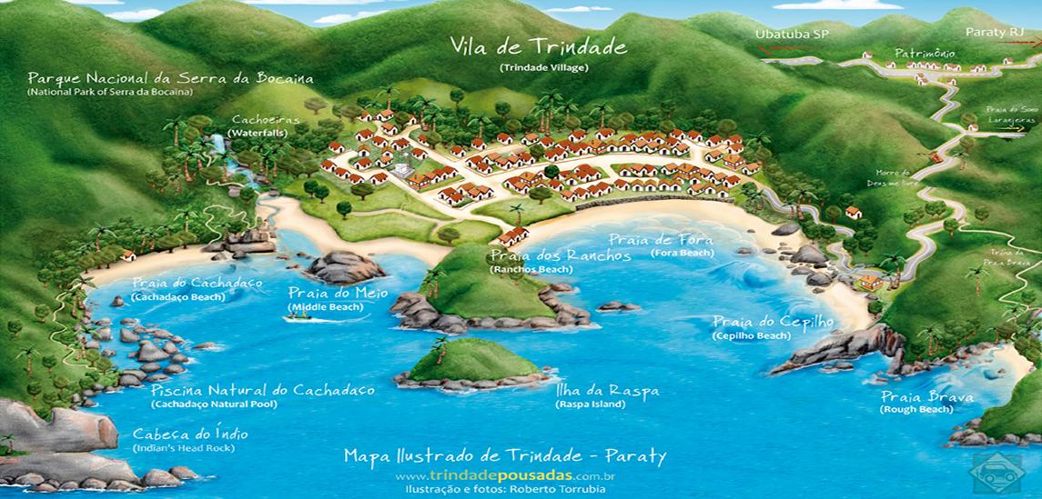 Mapa ilustrativo - Trindade RJ
